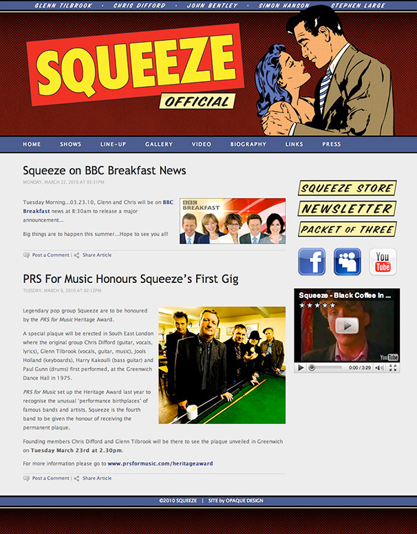 Squeeze Web Site Version 1