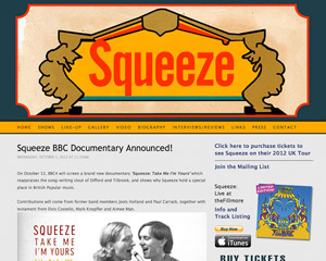 Squeeze Web Site